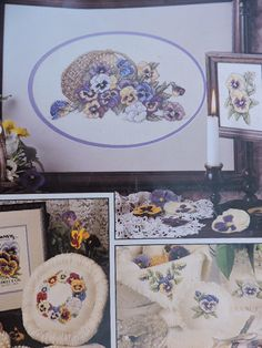 Costume Patterns, Cool Patterns, Pansies, Floral Flowers, Cross Stitch Patterns, Charts, Gallery Wall, Bloom, Quilts