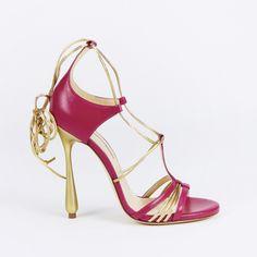 sandali rossi tacco alto Duccio Venturi Bottier SS 2016