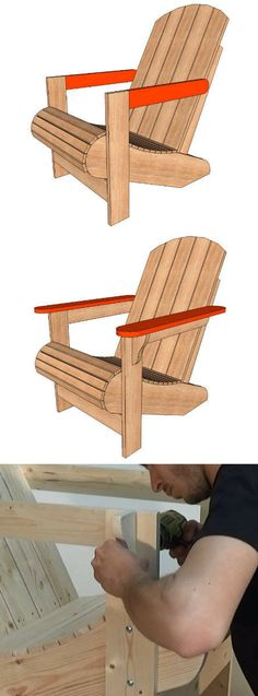 Outdoor Wooden Furniture Adirondack Chairs 20 New Ideas Turquoise Painted Furniture, Painted Bedroom Furniture, Rustic Furniture, Diy Furniture, Outdoor Furniture, Painting Furniture, Adirondack Chairs, Outdoor Chairs, Dining Chairs