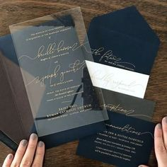 wedding invitations acrylic Brielle and Joe are such a sweet couple and were great clients. Working with them was a true pleasure, and the end result was this gorgeous crystal clear acrylic invitation. Happy Wedding Day Brielle and Joe! Acrylic Wedding Invitations, Bespoke Wedding Invitations, Wedding Envelopes, Rustic Invitations, Wedding Invitation Wording, Wedding Stationery, Wedding Cards, Wedding Events, Invitation Ideas