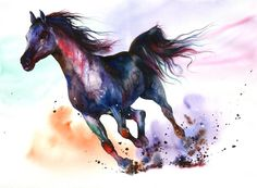 Unleashed.  Peter Williams.  Watercolor