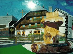 Painting, Art, Fountain, Pictures, Painting Art, Paintings, Kunst, Paint, Draw