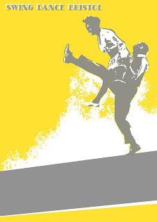 Paper Bird Design: Poster designs for Swing Dance Bristol