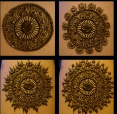 Beautiful mandala by Kaz Couture and Henna