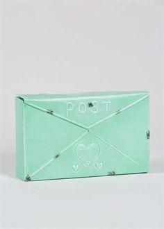 Outdoor Metal Post Box (25cm x 15cm x 6cm)