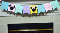 Minnie Mouse I AM One banner, Minne pastel banner, First Birthday, Happy Birthday Banner, Smash cake banner, Photo Prop, Minnie Mouse Banner by CelebrateCustomEvent on Etsy
