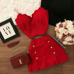 Crop Top Outfits, Cute Casual Outfits, Pretty Outfits, Stylish Outfits, Teen Fashion Outfits, Outfits For Teens, Girl Outfits, Fashion Dresses, Fashion Ideas