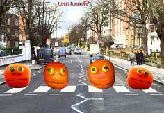 Rupert Pumpkin Spotted on Abbey Road