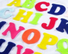 Felt Alphabet Letters  Fabric Applique or by NewEnglandQuilter