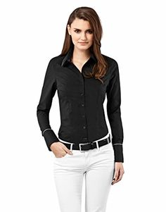 Vincenzo Boretti Blouse modernfit uni  nonironblackSmallUS4Label8 *** You can get additional details at the image link.Note:It is affiliate link to Amazon.