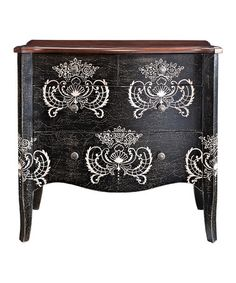 Take a look at this Black & White Four-Drawer Chest by Powell Company on #zulily today!