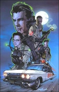Ghostbusters by Nick Runge Ghostbusters 1984, The Real Ghostbusters, Ghostbusters Reboot, Movie Poster Art, Movie Wallpapers, About Time Movie, Cultura Pop, The Villain, Comic Covers