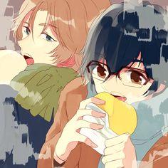 En & Atsushi - Binan Koukou Chikyuu Bouei-bu Love! by ヒロイム on pixv