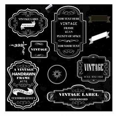 Free vintage chalk board frame vector grpahics