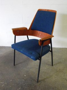 Vintage Iron, Leather, Wood and Fabric Chair. @designerwallace