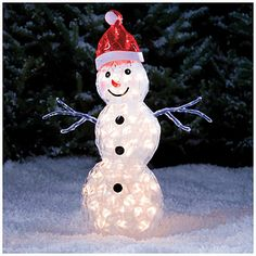 "30"" Lighted Ice Snowman"