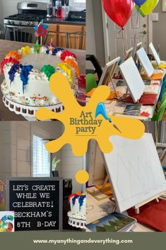 Art Themed Birthday Party! If your little one loves painting, coloring, making sculptures or drawing. Then this fun Art Birthday Party may be the perfect theme!