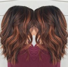 Red Brown Balayage By Rebecca