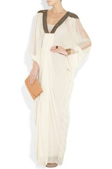 Cleopatra - Embellished Draped Silk-Chiffon Gown - Amanda Wakeley - £1495