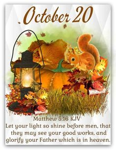 King James Bible Verses, Bible Verses Quotes, Scriptures, October Calender, Calendar, Days Of The Year, 1 Year, Daily Scripture, October 20
