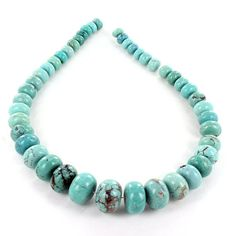 CHINESE TURQUOISE BEADS Graduated Rondelle Sky by NewWorldGems