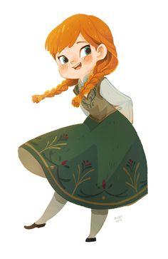 rubyrotka: Anna from frozen. I love this dress <3 #disney #fanart