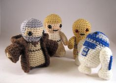 i wish i could crochet - PATTERNS for Star Wars Mini Amigurumi - Pick any two