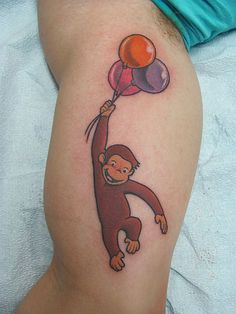 3814389aa curious george tattoo just add the soccer ball and there is Donovan's Tatto  Frog Tattoos,