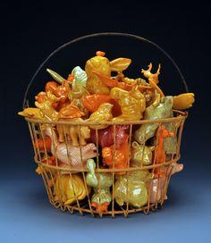 Wendy Walgate  Orange Basket  Slipcast Assemblages