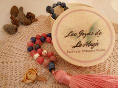 Mala 108 cuentas con detalles en Plata Silk Thread, Bead Necklaces, Natural Stones