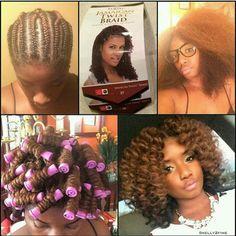 Crochet braids Jamaican twist hair
