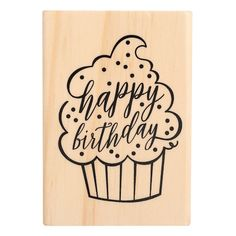 Buy the Birthday Cupcake Wood Stamp by Recollections™ at Michaels. This lovely birthday cupcake stamp is all you need to make cute birthday card for your little one. Happy Birthday Writing Style, Happy Birthday Doodles, Happy Birthday Hand Lettering, Happy Birthday Font, Happy Birthday Drawings, Birthday Card Drawing, Happy Birthday Cupcakes, Cute Birthday Cards, Handmade Birthday Cards