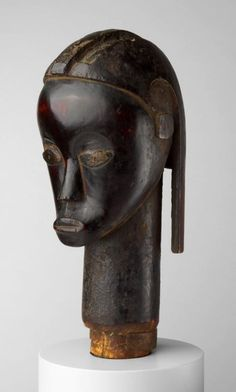 Fang  Gabon    Reliquary Head, Mid-/late 19th century    Wood and copper