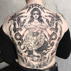 Just finished this Greek themed back piece, thanks for sitting so well Natasha!