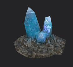 Cave gemstone, Young Kwon Yi on ArtStation at https://www.artstation.com/artwork/wGQr6