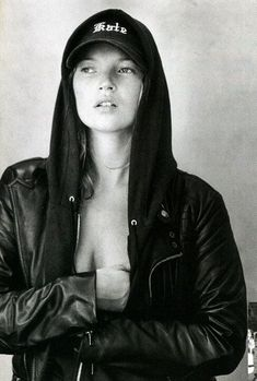 Kate Moss (Love the baseball cap!!)