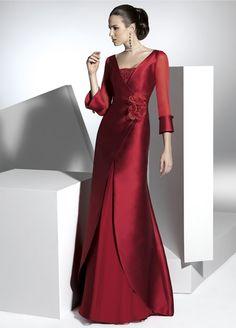 ZBD 179 Elegant a line floor length long sleeve bridesmaid dresses Evening Dresses, Formal Dresses, Wedding Dresses, Party Dresses, Nice Dresses, Bridesmaid Dresses, Dress Images, Quinceanera Dresses, The Dress