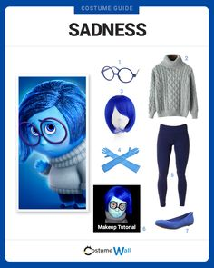 Dress Like Sadness, 1 of the 5 emotions from Inside Out. See additional costumes and cosplays of Sadness.