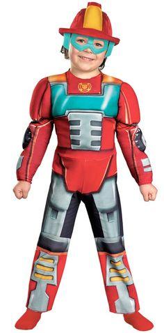 Transformers Heatwave Rescue Bot Kids Costume - Transformers Costumes