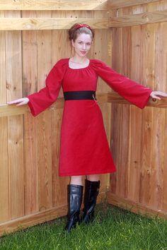 New #red #corduroy #dress! #christmas