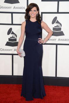 Martina McBride wearing @davidmeister and @oroton clutch – Grammy Awards #2014