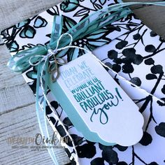 Mikaela Titheridge, #6UK Stampin' Up! Demonstrator, The Crafty oINK Pen brings you a Gift Bag made using 12 x 12 Patterned Paper