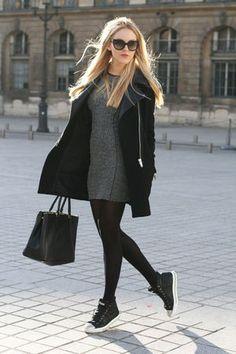 ブーツが主流になる季節ですが、コーデに抜け感を出すなら冬本番でもスニーカーがオススメです♡