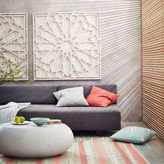 Whitewashed Wood Wall Art   west elm
