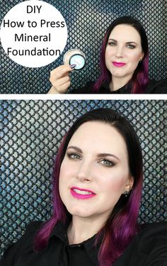 How to Press Loose Mineral Foundation DIY. I used Lucy Minerals Original Foundation.
