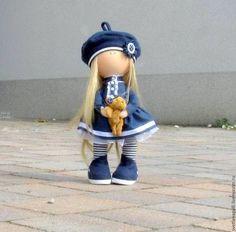 Человечки ручной работы. Ярмарка Мастеров - ручная работа. Купить Кукла интерьерная Девочка с маленькой собачкой. Handmade. Интерьерная кукла