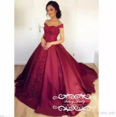Stunning Burgundy Lace Quinceanera Dresses 2018 Long Puffy A Line Appliques and Beading Off Shoulder Sweet 16 Dress Pageant Prom Formal Gown