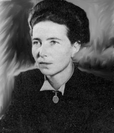 """Simone de Beauvoir- French existentialist  who wrote """"The Second Sex"""", a book that the Vatican placed on it's """"List of Prohibited Books""""  She known as one of the mothers of feminism and equality."""