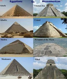 Ancient pyramids all over the world. How strange that the same design pops up over & over, so far away from the others - Imgur