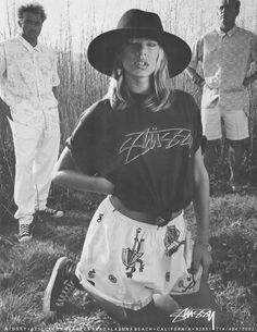 Stussy. My teenager actually has my old shirt exactly like this. It's retro. I'm old.